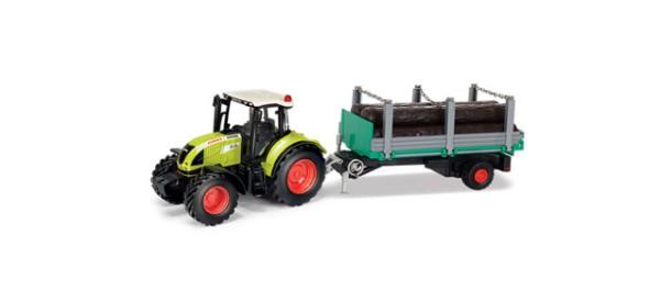 Claas Arion 540 Traktor m. Holzanhänger
