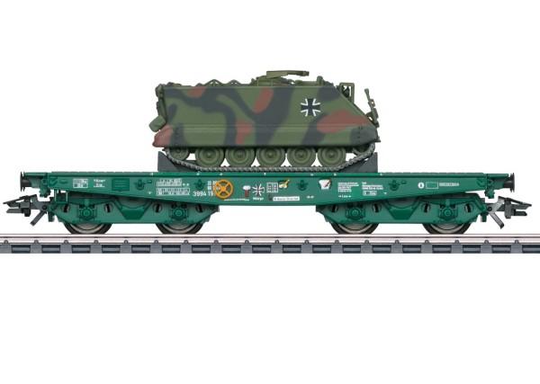 Schwerlast-Flachwagen Rlmmps mit M113