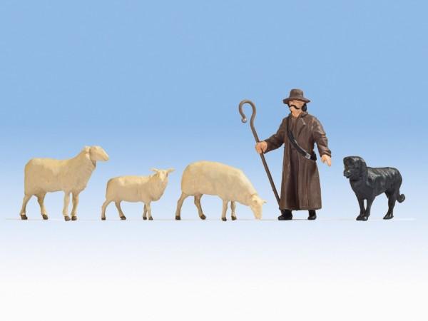 Sch/äfer U Schafe H0 Noch Fig