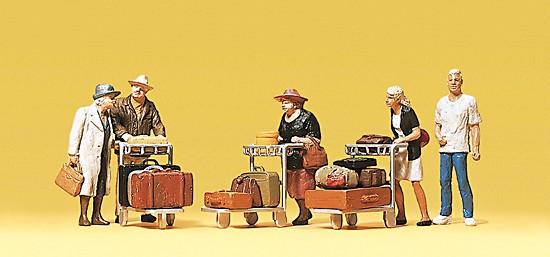 Reisende. Mit Kofferkuli