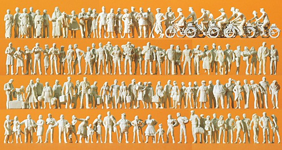 H0-Reisende und Passanten. 120 Figuren