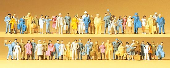 Reisende, Passanten. 60 Figuren