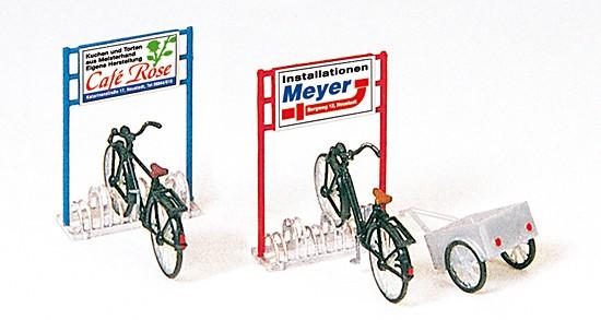 Fahrradständer, Fahrräder, Anhänger