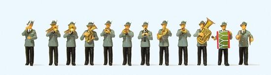 Schützenkapelle. 12 Miniaturfiguren