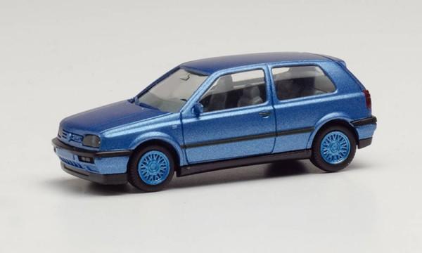 VW Golf III VR6 blaumetallic Felgen blau