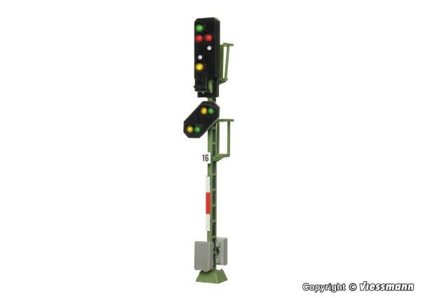 H0-Licht-Ausfahrsignal mit Vorsignal