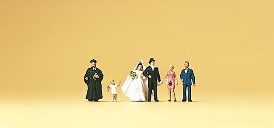 Brautpaar, evangelischer Geistlicher
