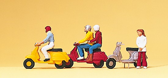 """Motorroller """"Vespa""""-Fahrer"""