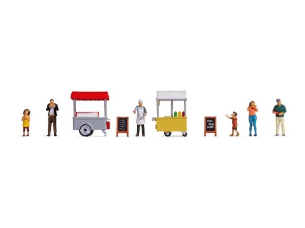 H0-Figuren-Themenwelt, Eis+Hot Dog-Wagen