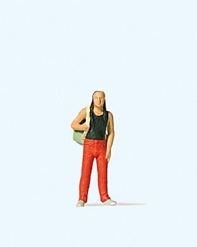 Mann mit Rucksack