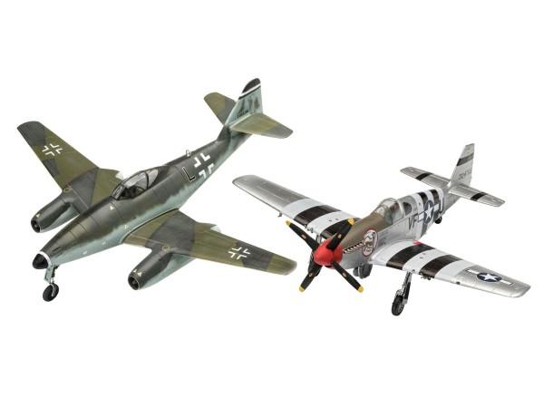 1:72-Combat Set Me262 & P-51B Mustang