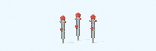 Hydrant silber, 3 Stück, Fertigmodell