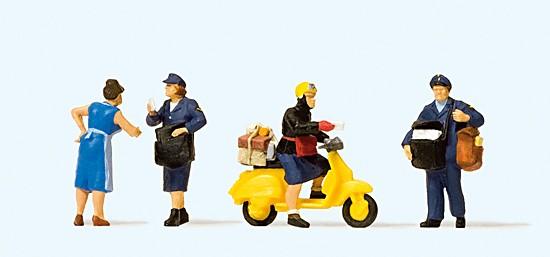 Deutsche Bundespost. mit Motorroller