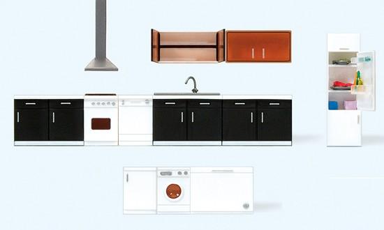 Kücheneinrichtung. 9 Teile