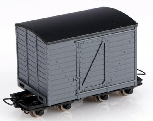 H0e-Kastenwagen, grau