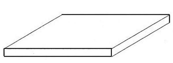 Weiße Polystyrolplatte, 150x300x0,75 mm