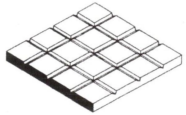 Gehwegplatten, 1x150x300 mm. 1 Stück