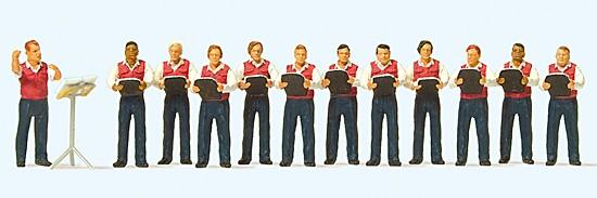 Männergesangsverein. 12 Miniaturfiguren