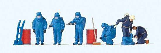 Feuerwehrmänner, Blauer Vollschutz