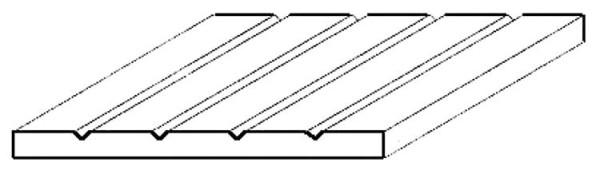 Strukturplatte, 1x150x300 mm