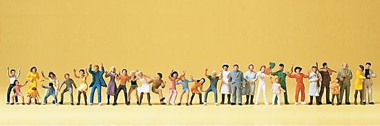 Volksfestbesucher. 30 Figuren