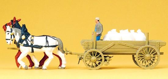 Bauernwagen mit Mehlsäcke, Fertigmodell