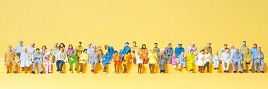 H0-Sitzende Personen 48 Figuren
