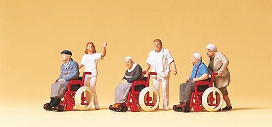 Passanten, Rollstühle, Rollstuhl