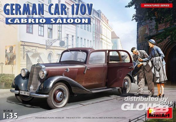 1:35-German Car 170V Cabrio Saloon