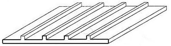 Strukturplatte,1x150x300 mm,Raster 3,2mm