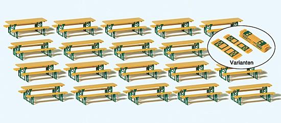 20 Biertischgarnituren. Bausatz