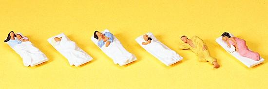 H0-Liegende Fahrgäste für Schlafwagen