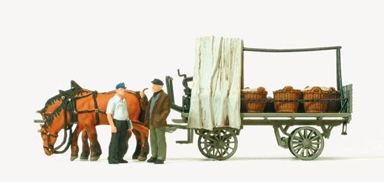 HO Rollwagen mit Gemüseladung
