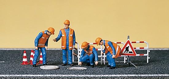 Kanalarbeiter, Absperrung
