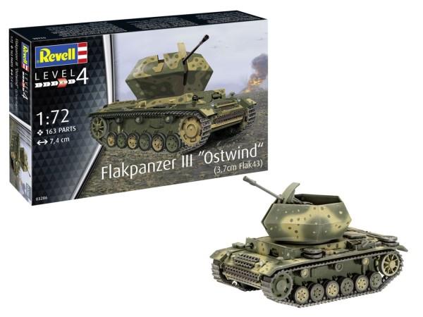 1:72-Flakpanzer, Ostwind, 3,7cm Flak 43