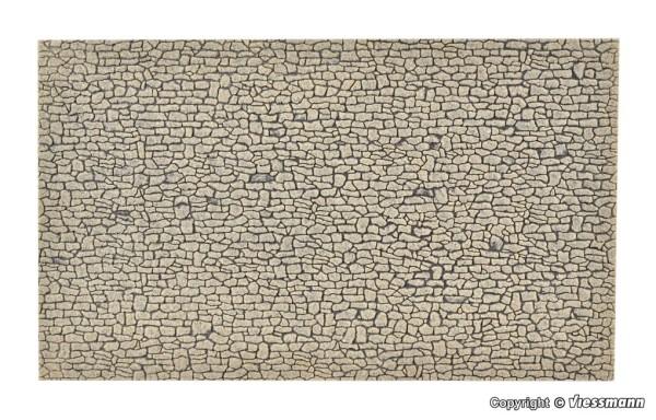H0-Mauerplatte Bruchstein, L 28xB 16,3cm