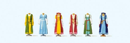 Mittelalterliche Kleidung auf Ständer