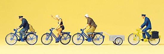 HO Radfahrer, Fahrradanhänger