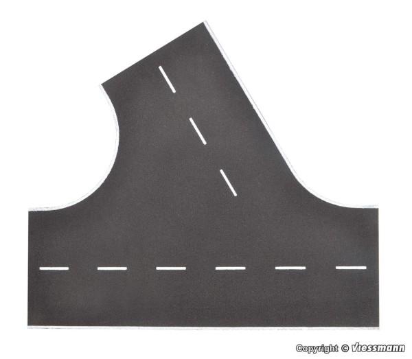H0-Straßenplatte Asphalt, 60°-Einmündung