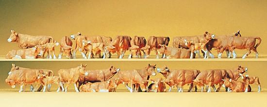Kühe, braun. 30 Figuren