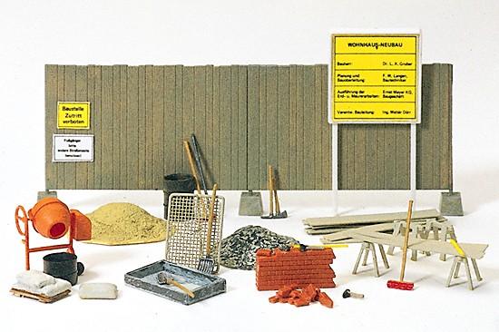 Betonmischer, Bauzaun, Werkzeug