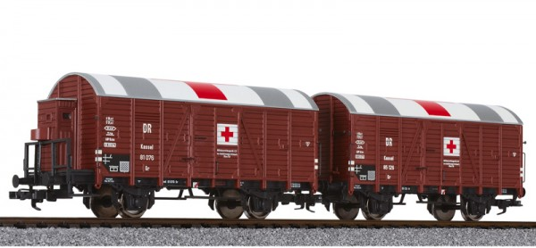 H0-Hilfs-Lazarettwagen-Set Kassel, DR