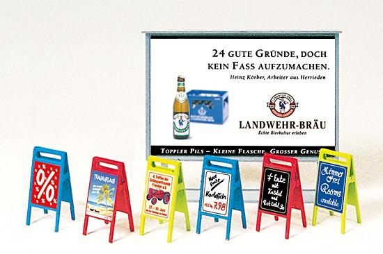 Plakattafel, Werbeschilder. Bausatz
