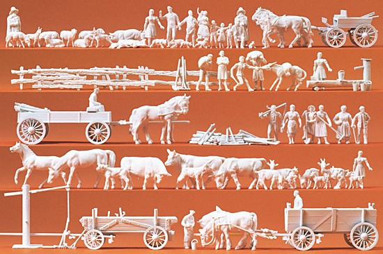 Ländliche Gruppen, Gespanne,60 Figuren