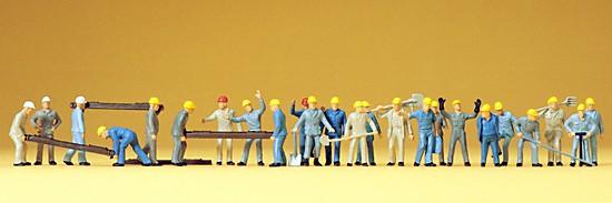 Gleisbauarbeiter. 24 Figuren