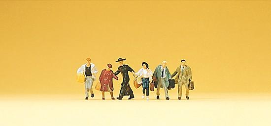 Laufende Reisende
