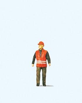 H0-1 Bahnarbeiter mit Warnweste
