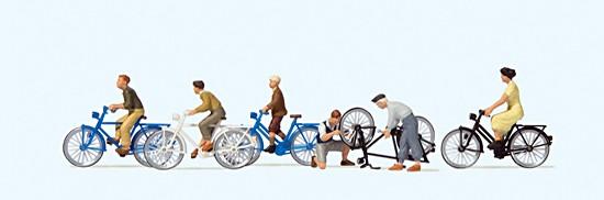 H0-Jugendliche mit dem Fahrrad