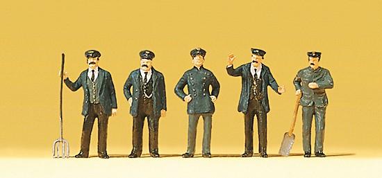 Lokführer. Heizer. Bahnbedienstete 1900
