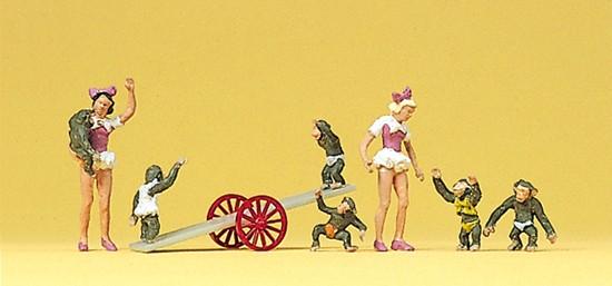 Mädchen, Affen